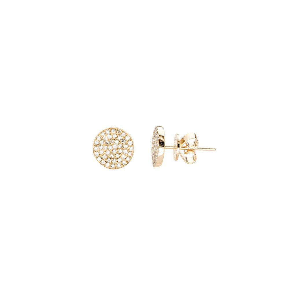 Disc Studs by EF Collection for Broken English Jewelry