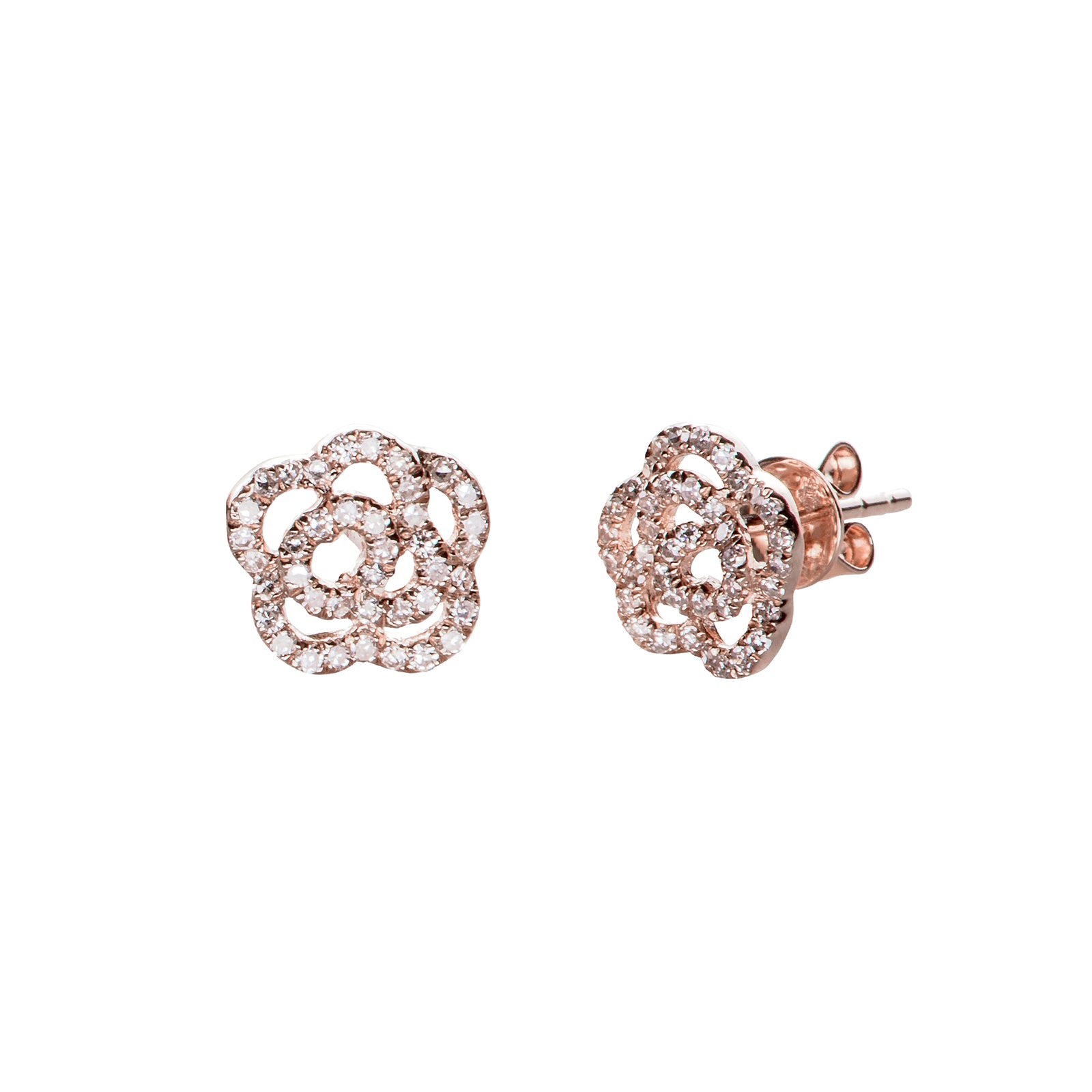 EF Collection Rose Stud - Rose Gold - Earrings - Broken English Jewelry