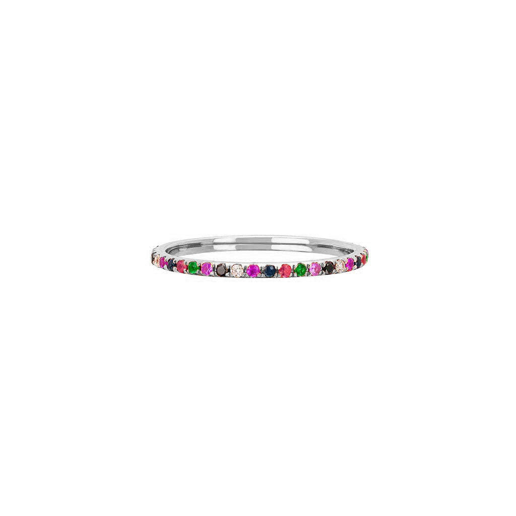 Rainbow Eternity Band by EF Collection for Broken English Jewelry