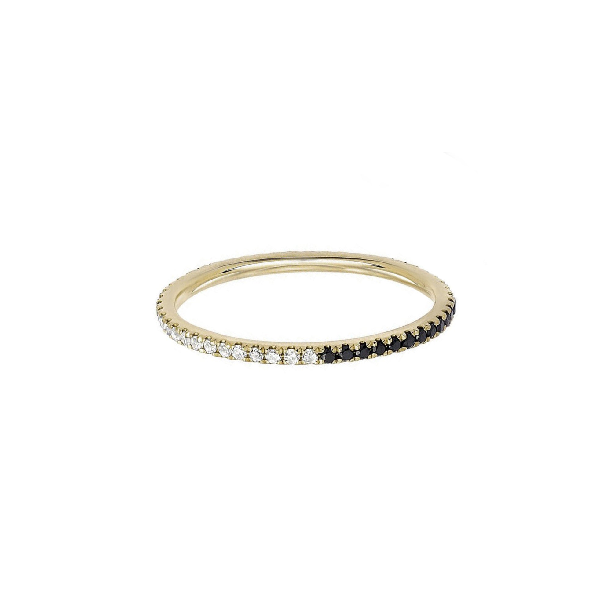 EF Collection Two Tone Eternity Stack Ring - Rings - Broken English Jewelry