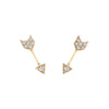 EF Collection Mini Arrow Studs - Yellow Gold - Earrings - Broken English Jewelry