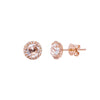 EF Collection Diamond & White Topaz Studs - Rose Gold - Earrings - Broken English Jewelry