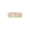 EF Collection Diamond Cigar Band - Yellow Gold - Rings - Broken English Jewelry