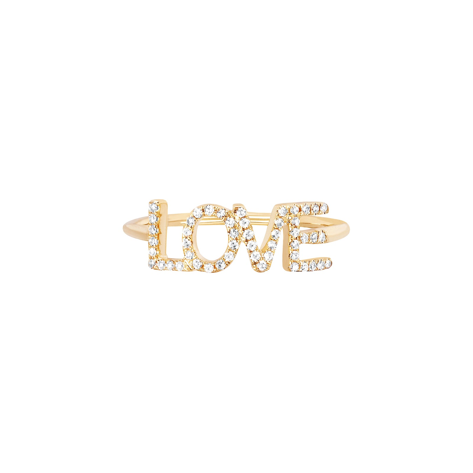 EF Collection Diamond Love Ring - Yellow Gold - Rings - Broken English Jewelry