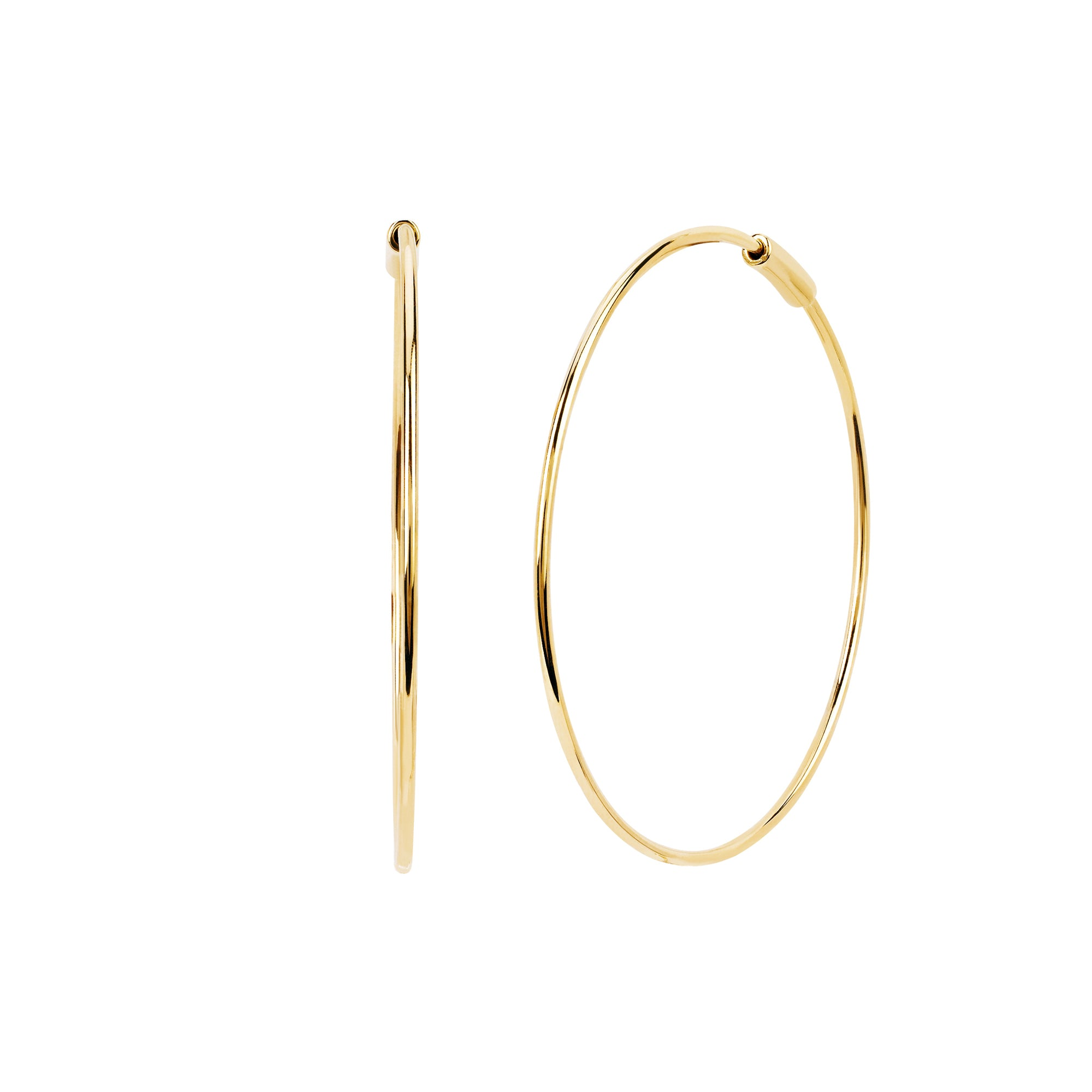 EF Collection Perfect Gold Hoop - Earrings - Broken English Jewelry
