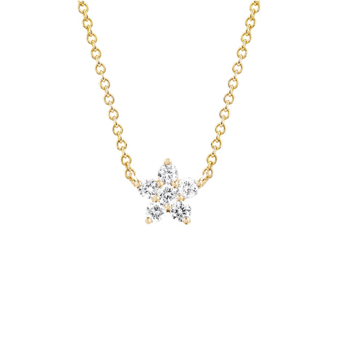 Diamond Flower Choker