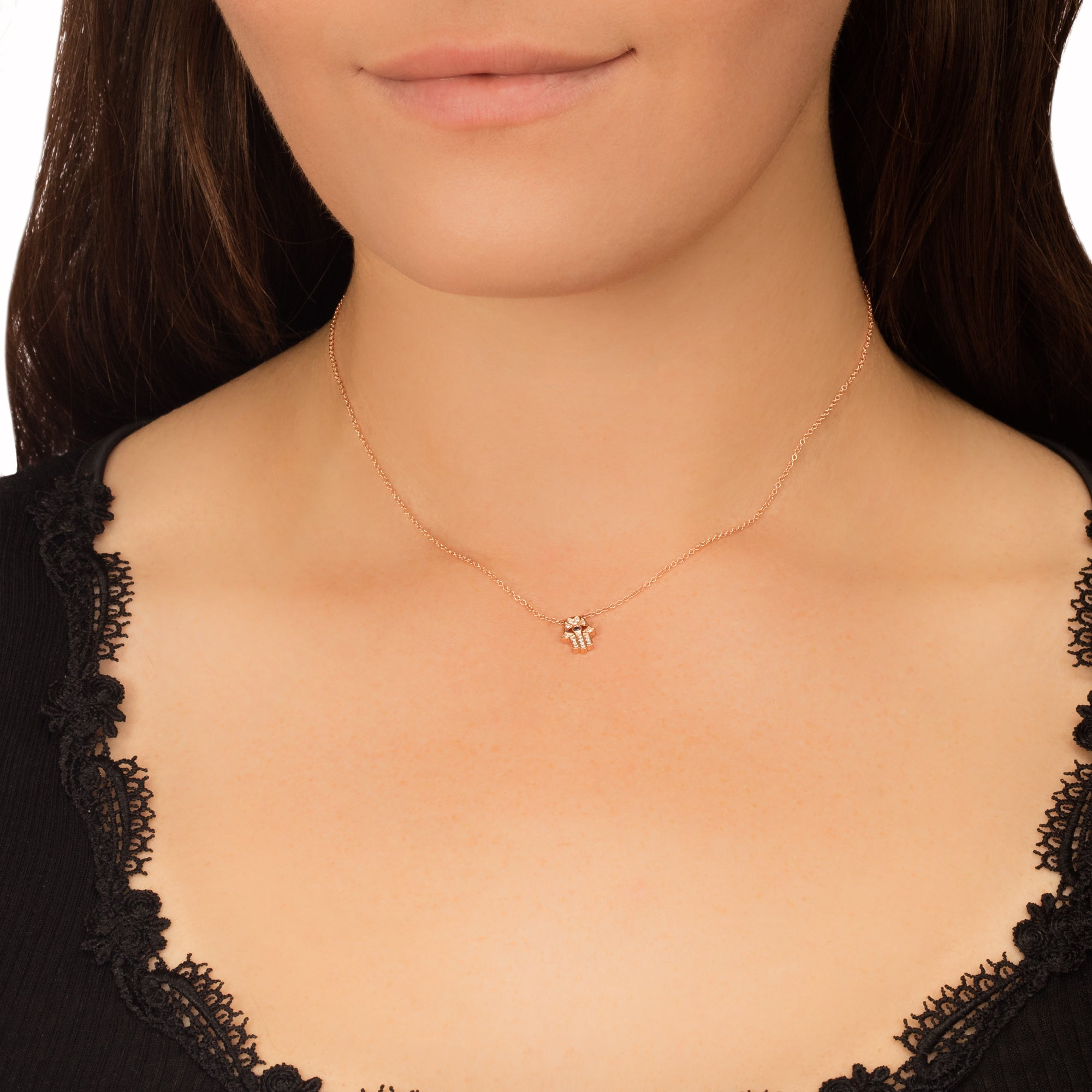 Sapphire Hamsa Necklace - EF Collection - necklaces | Broken English Jewelry