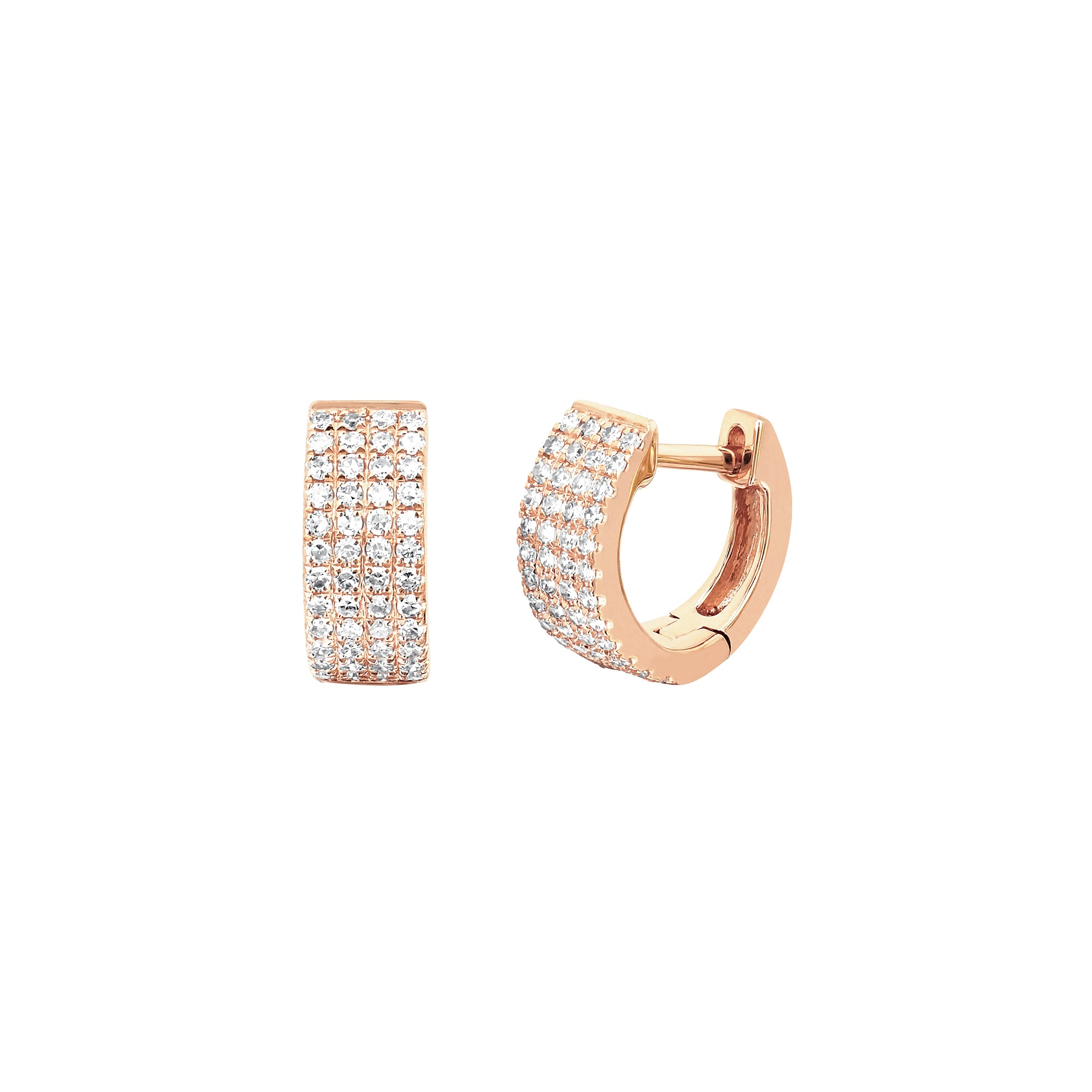 Jumbo Diamond Huggies - EF Collection - earrings | Broken English Jewelry
