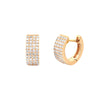 EF Collection Jumbo Diamond Huggies - Yellow Gold - Earrings - Broken English Jewelry