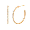 Half Diamond Essential Hoop Earrings