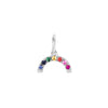 EF Collection Rainbow Pendant - White Gold - Charms & Pendants - Broken English Jewelry