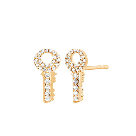 Diamond Key Studs