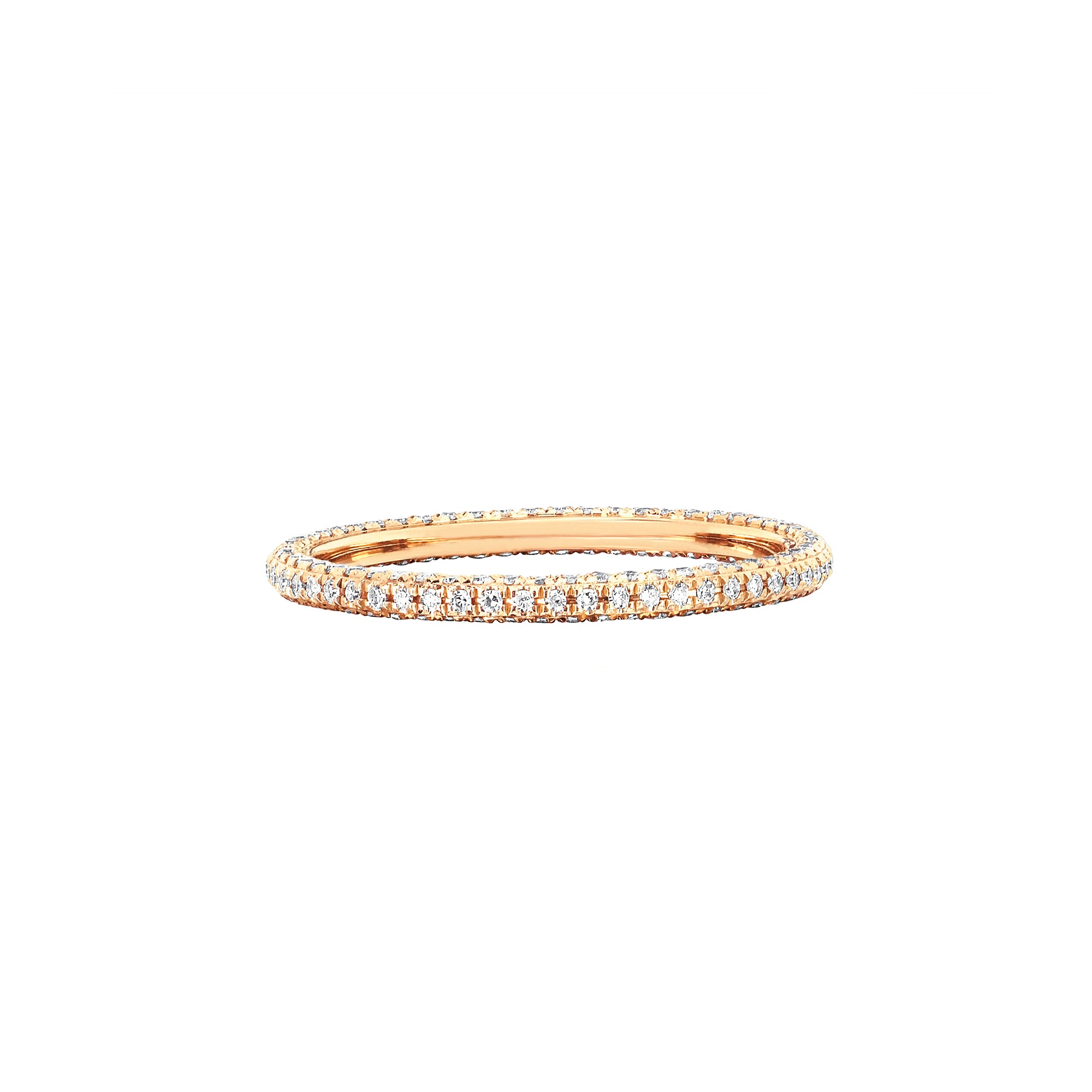 EF Collection 3 Sided Diamond Eternity Ring - Rings - Broken English Jewelry
