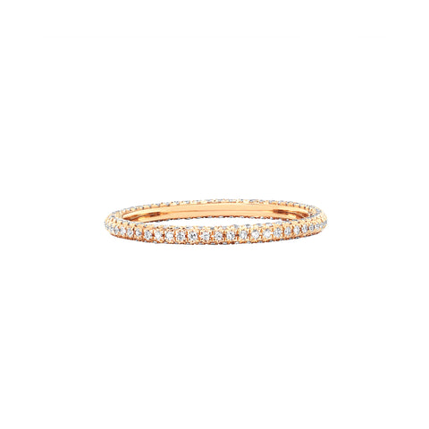 3 Sided Diamond Eternity Ring