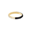 EF Collection Two Tone Diamond & Black Enamel Ring - Yellow Gold - Rings - Broken English Jewelry