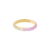 EF Collection Two Tone Diamond & Pink Enamel Ring - Yellow Gold - Rings - Broken English Jewelry