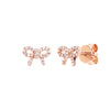 EF Collection Mini Diamond Bow Studs - Rose Gold - Earrings - Broken English Jewelry