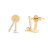 EF Collection Diamond Illusion Earrings - Yellow Gold - Earrings - Broken English Jewelry