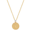 EF Collection Moon Disk Necklace - Yellow Gold - Necklaces - Broken English Jewelry