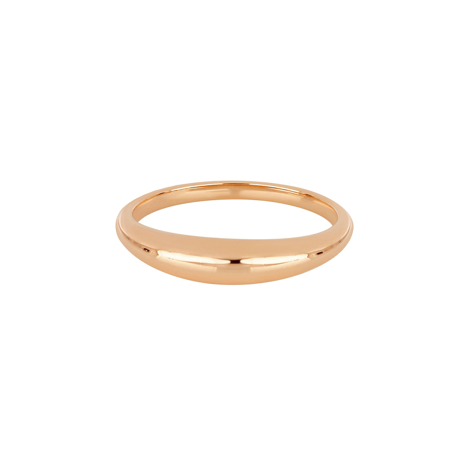 EF Collection Dome Ring - Rose Gold - Rings - Broken English Jewelry