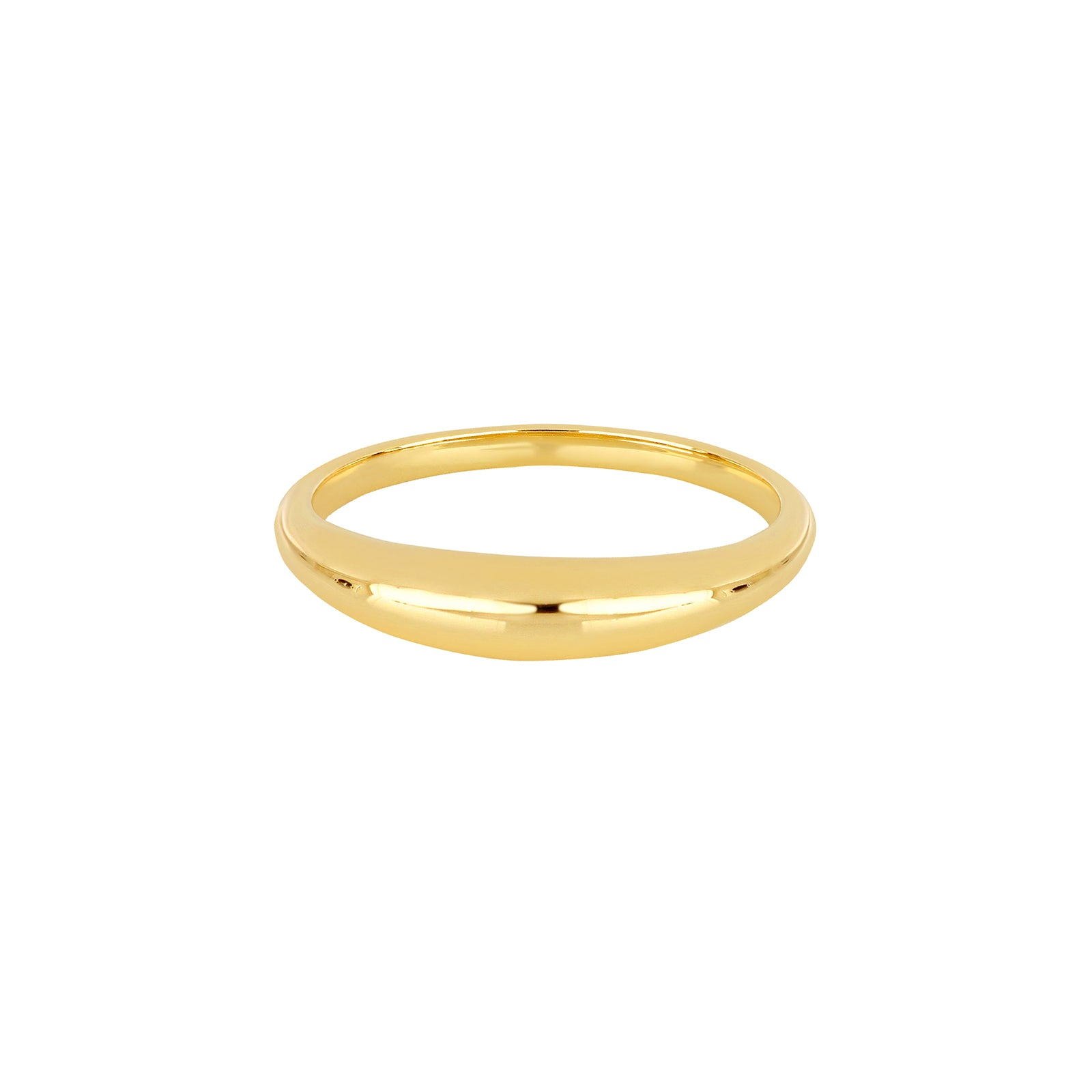EF Collection Dome Ring - Yellow Gold - Rings - Broken English Jewelry