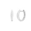 EF Collection Mini Dome Diamond Huggies - White Gold - Earrings - Broken English Jewelry