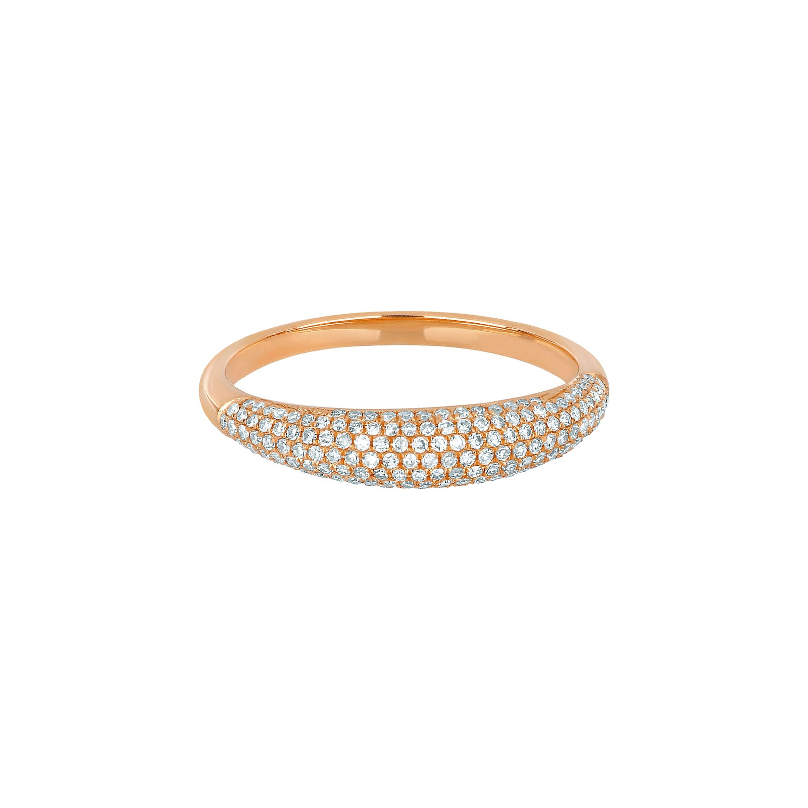 EF Collection Dome Diamond Ring - Rose Gold - Rings - Broken English Jewelry