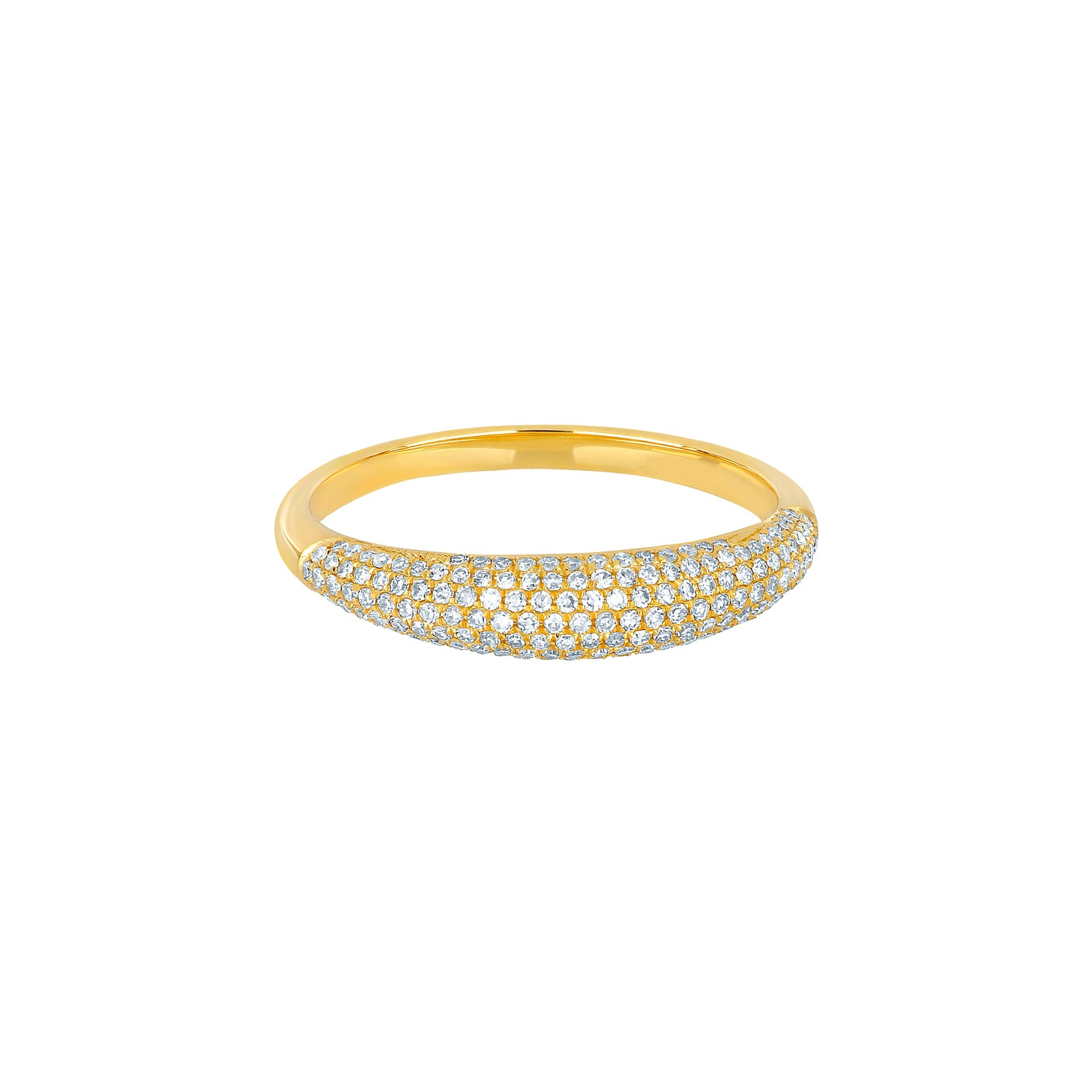 EF Collection Dome Diamond Ring - Yellow Gold - Rings - Broken English Jewelry