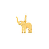 EF Collection Lucky Elephant Charm - Yellow Gold - Charms & Pendants - Broken English Jewelry