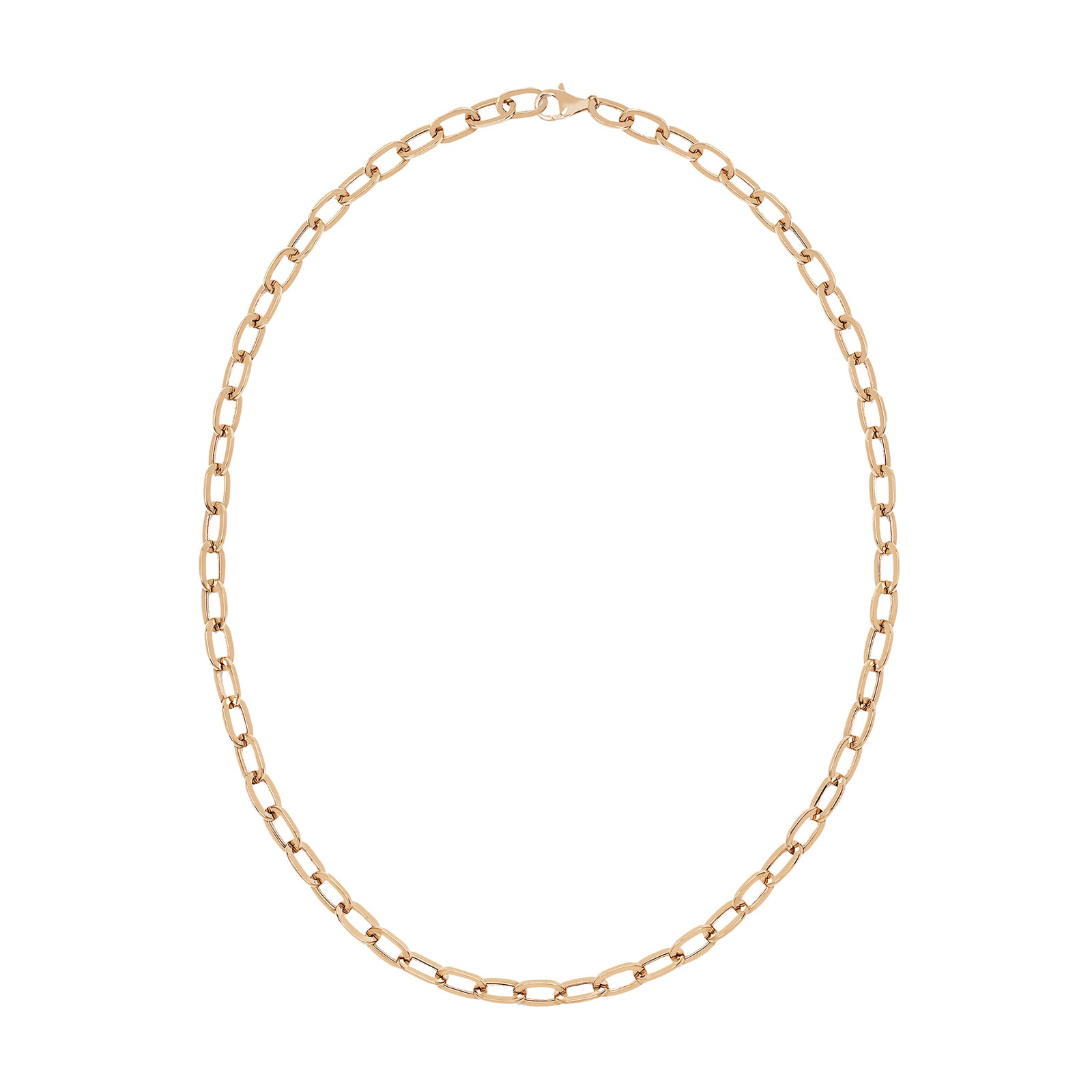 EF Collection Jumbo Link Necklace - Rose Gold - Necklaces - Broken English Jewelry