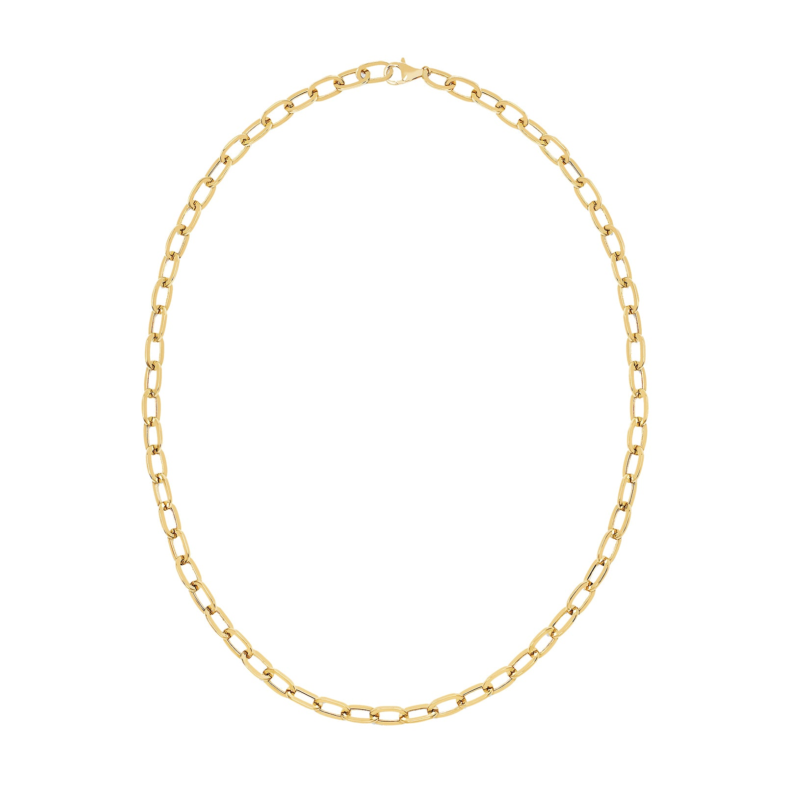 EF Collection Jumbo Link Necklace - Yellow Gold - Necklaces - Broken English Jewelry