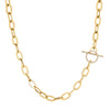 EF Collection Jumbo Diamond Toggle Necklace - Yellow Gold - Necklaces - Broken English Jewelry