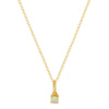 EF Collection Opal Birthstone Necklace - Yellow Gold - Necklaces - Broken English Jewelry
