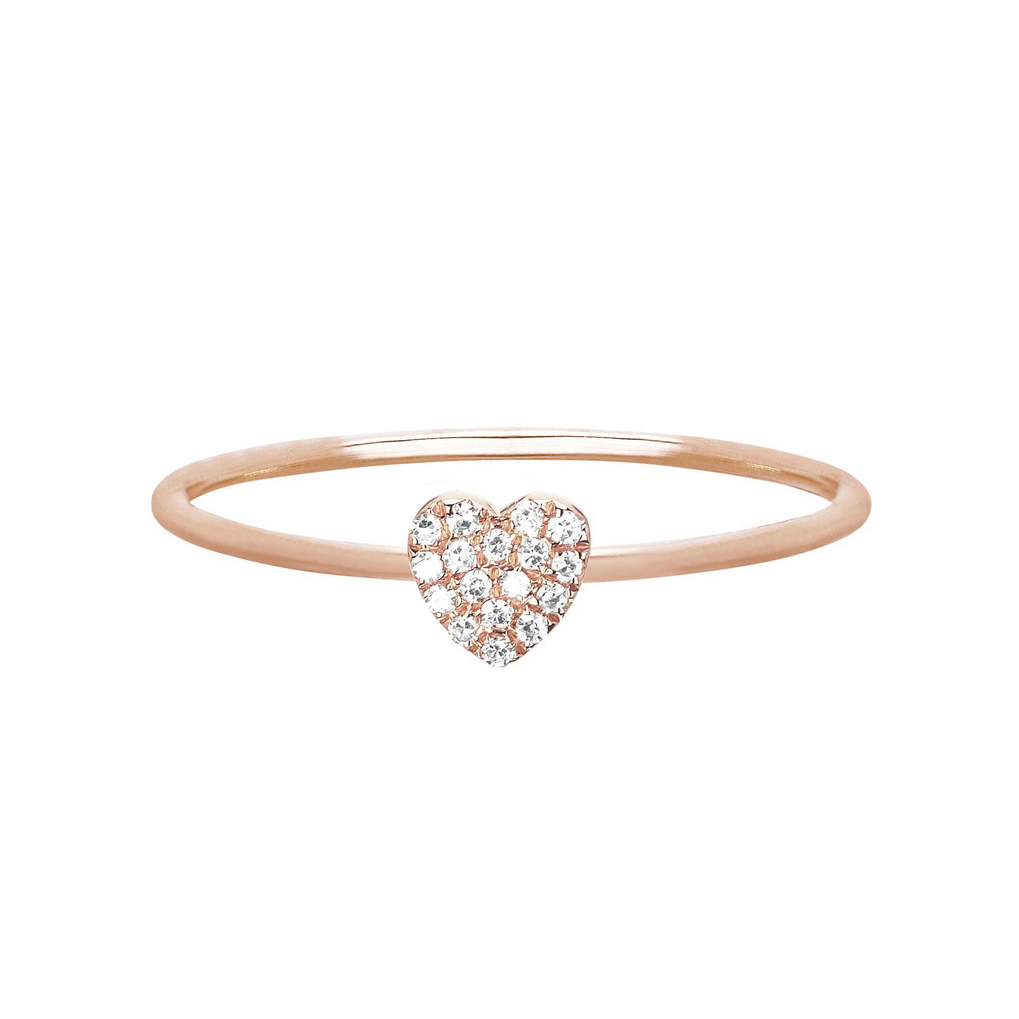 Mini Heart Stack Ring by EF Collection for Broken English Jewelry