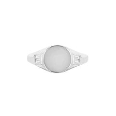 Baguette Signet Ring by EF Collection for Broken English Jewelry