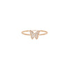 Diamond Butterfly Stack Ring by EF Collection for Broken English Jewelry