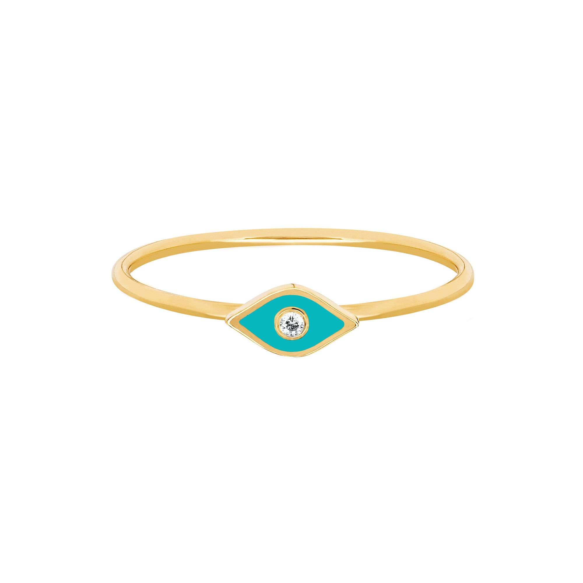 Turquoise Evil Eye Ring by EF Collection for Broken English Jewelry