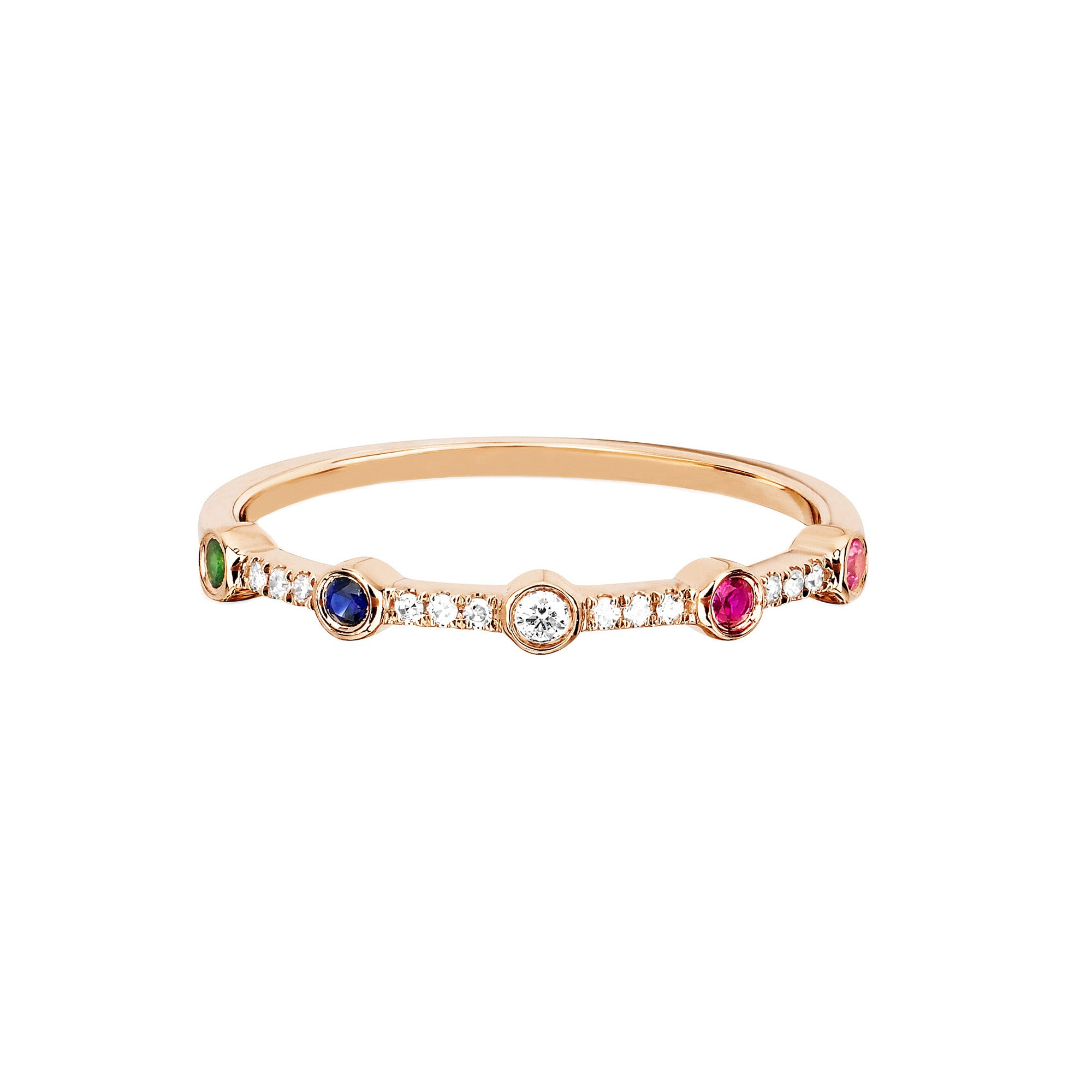 Rainbow Stack Ring by EF Collection for Broken English Jewelry