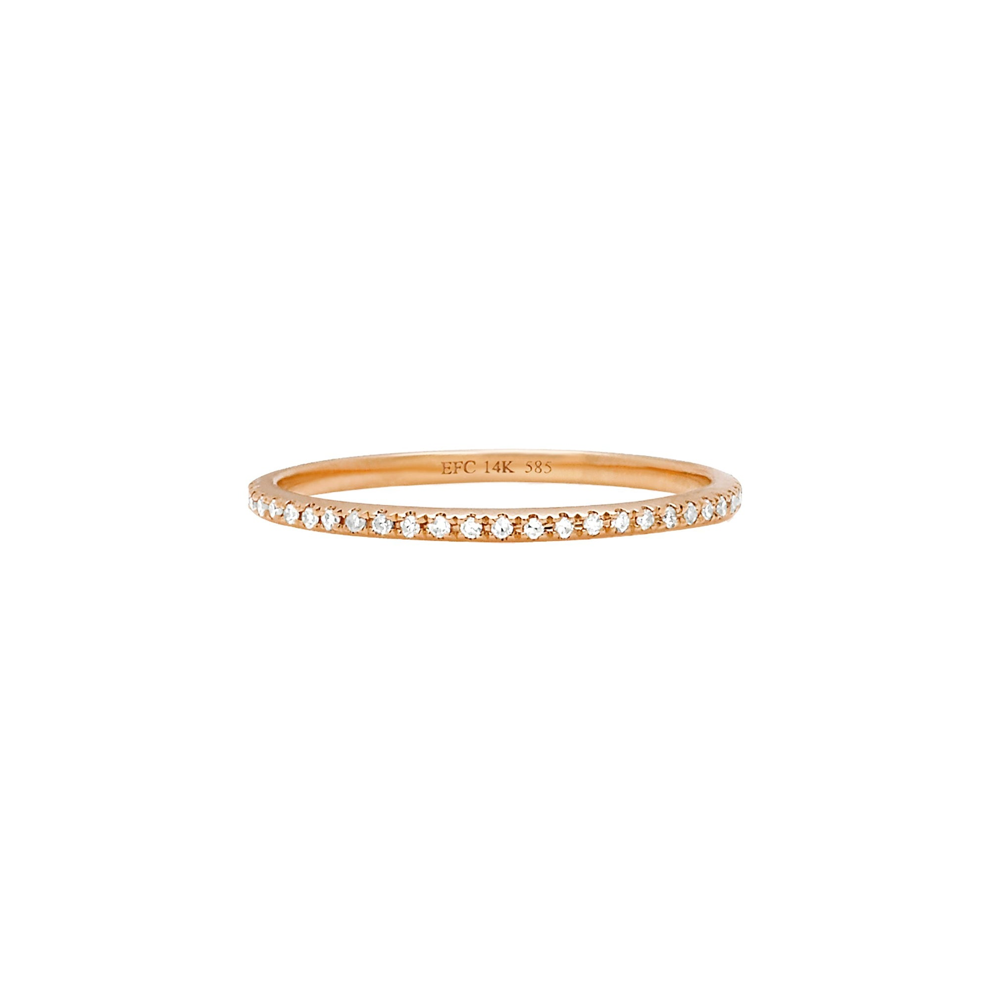 Diamond Eternity Band by EF Collection for Broken English Jewelry