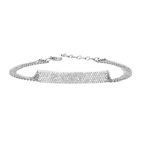 Jumbo Bar Multi Chain Bracelet by EF Collection for Broken English Jewelry
