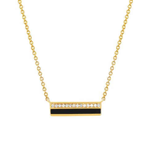 Black Bar Necklace by EF Collection for Broken English Jewelry