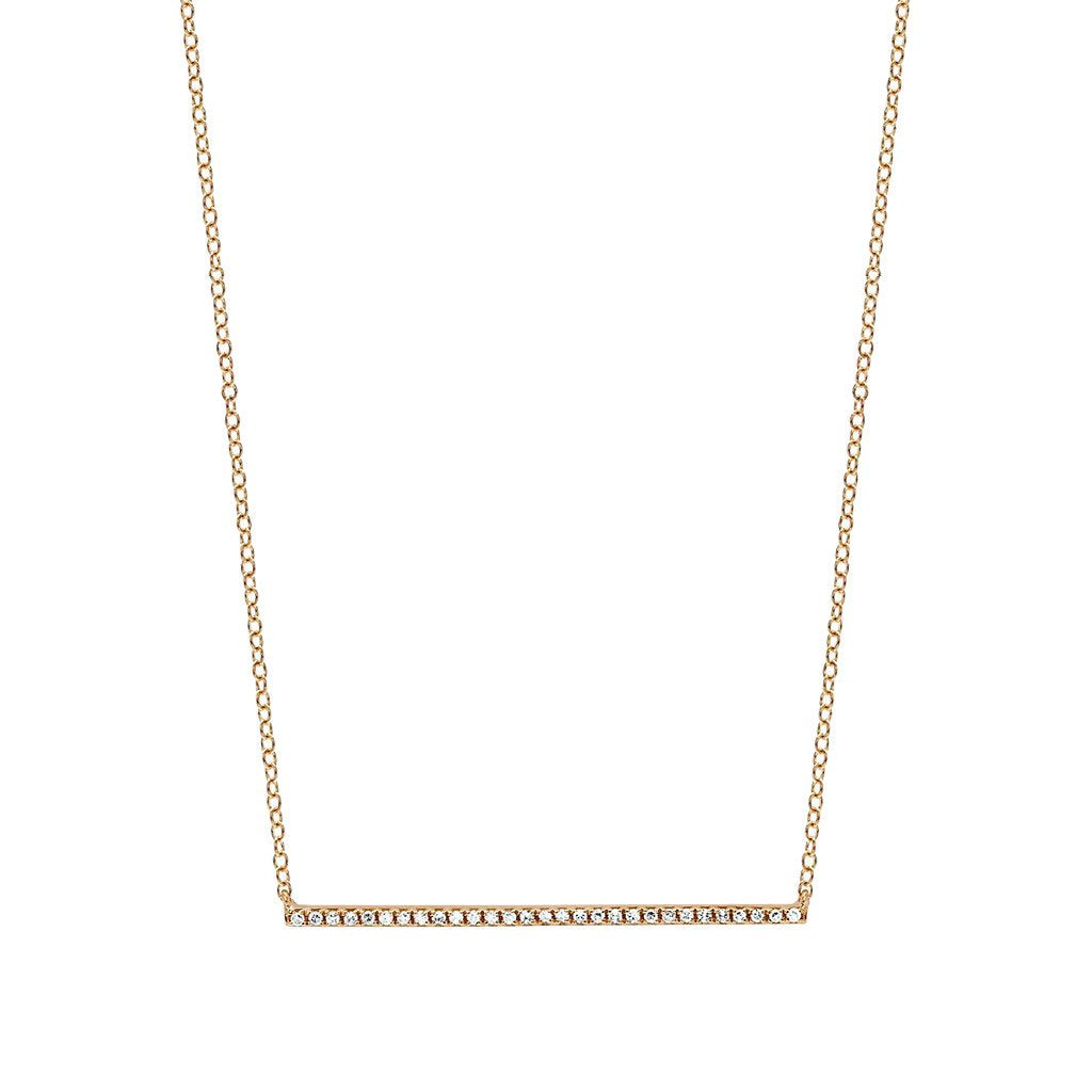 Diamond Bar Necklace by EF Collection for Broken English Jewelry