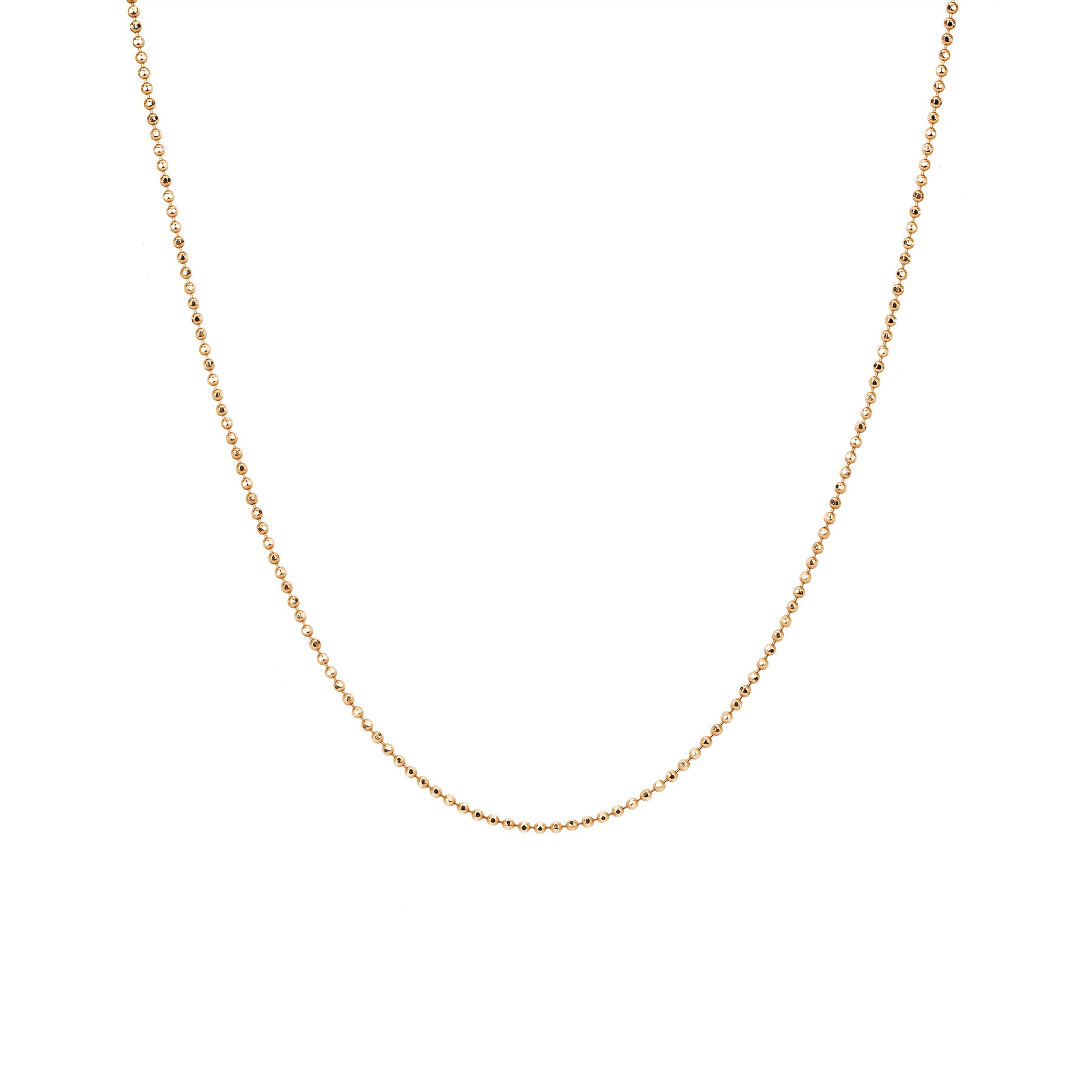 "16-18"" Gold Faceted Chain by EF Collection for Broken English Jewelry"