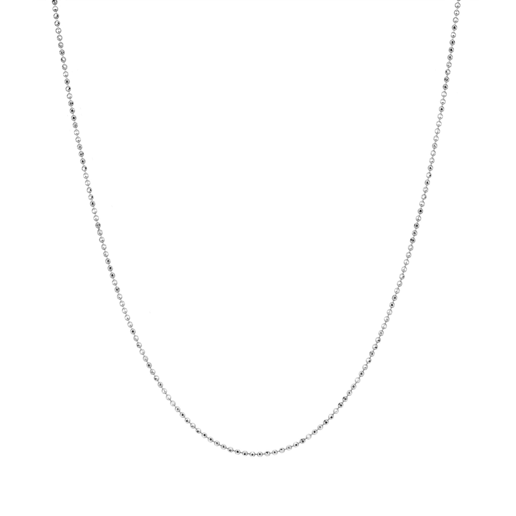 "20-22"" Gold Faceted Chain by EF Collection for Broken English Jewelry"