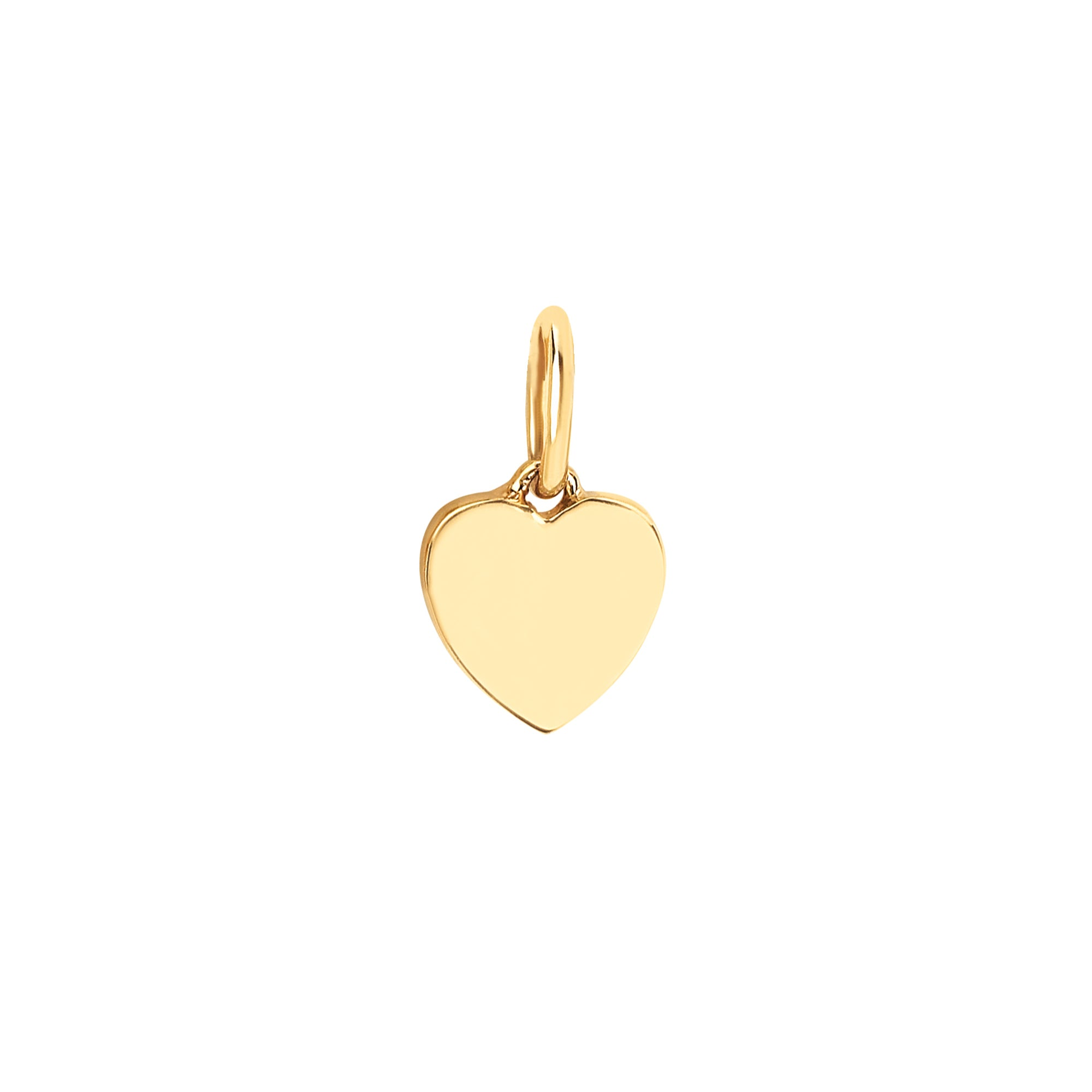 Gold Heart Pendant by EF Collection for Broken English Jewelry