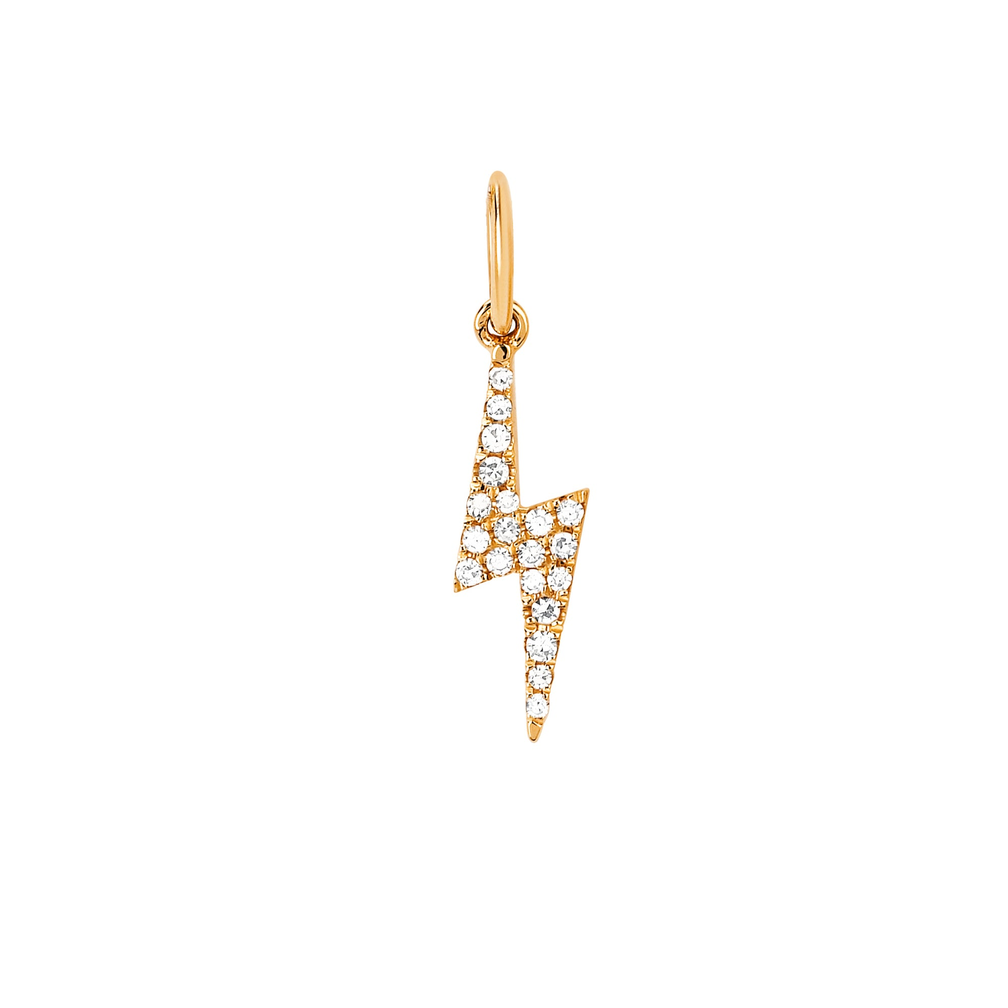 Diamond Lightning Bolt Pendant by EF Collection for Broken English Jewelry