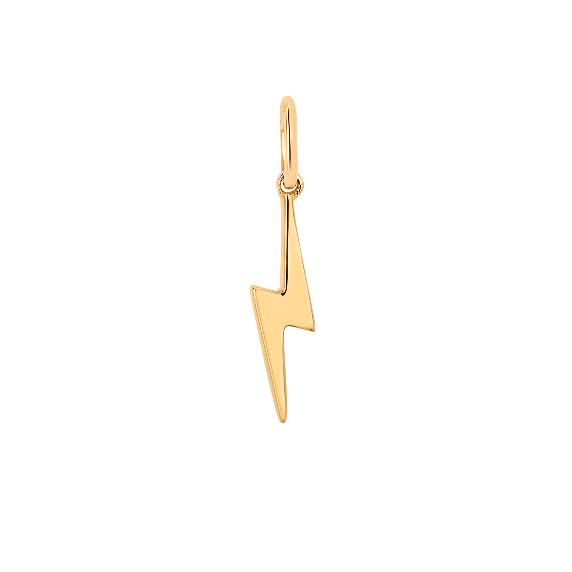 Gold Lightning Bolt Pendant by EF Collection for Broken English Jewelry