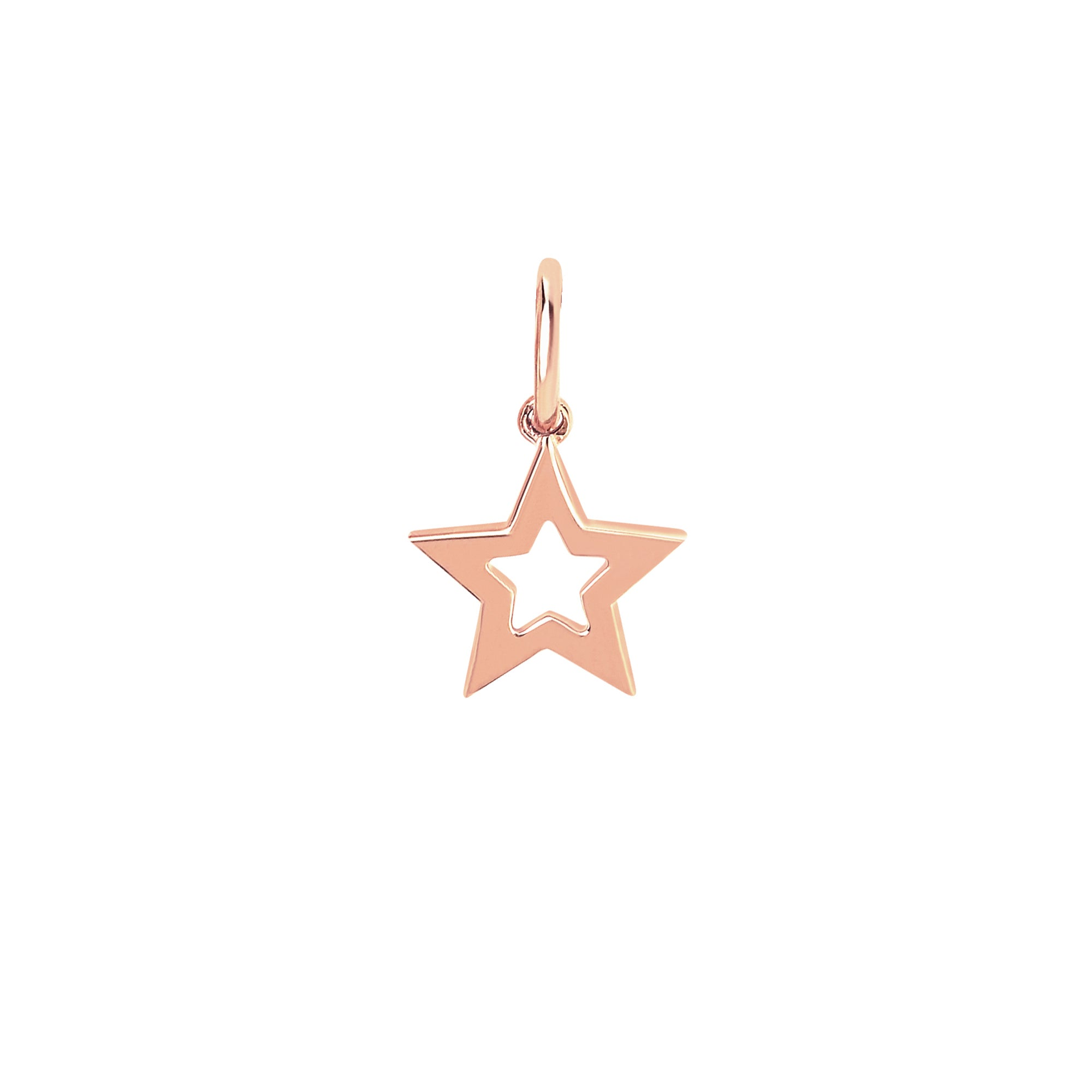Gold Open Star Pendant by EF Collection for Broken English Jewelry