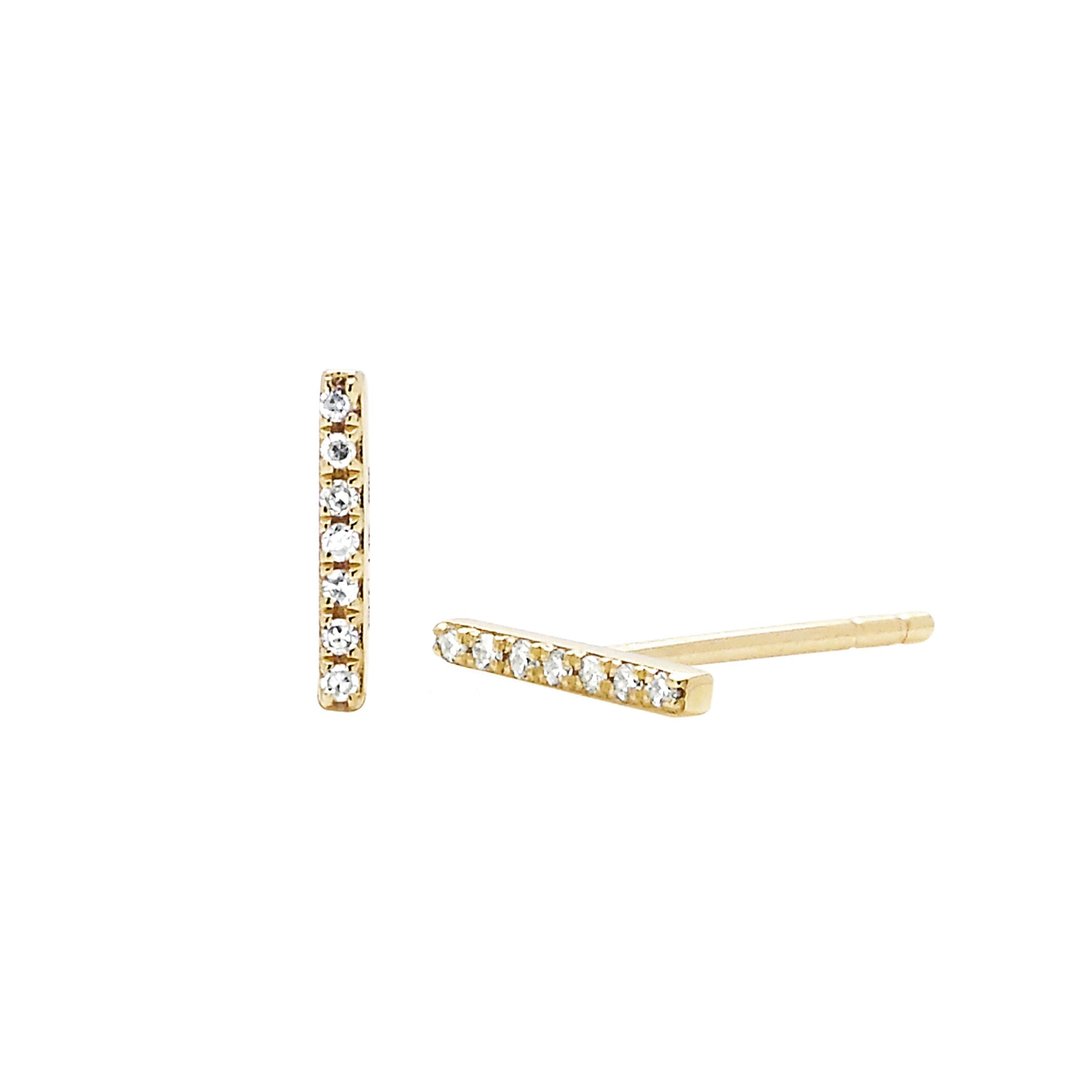 Mini Bar Studs by EF Collection for Broken English Jewelry