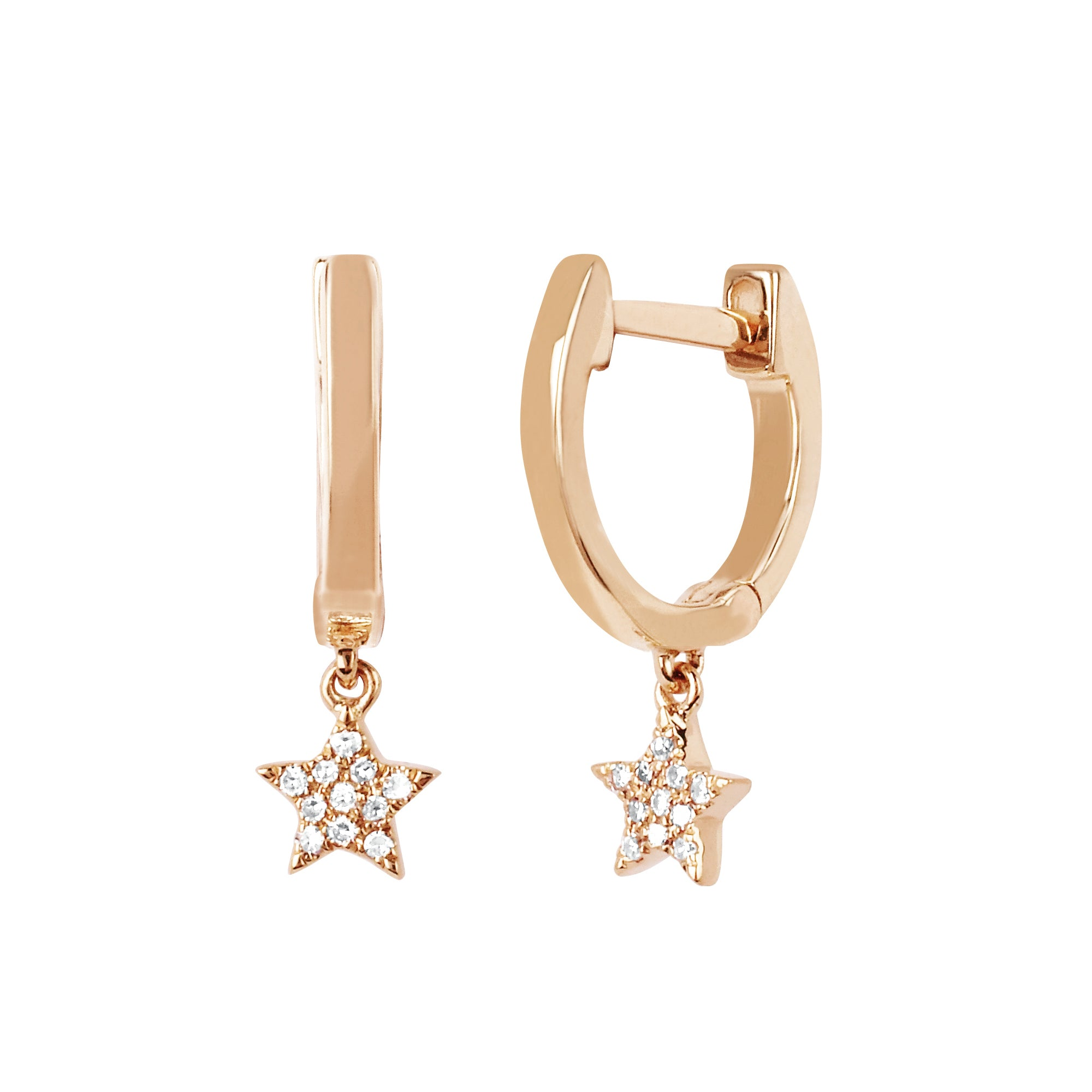 Mini Huggie Star Drop by EF Collection for Broken English Jewelry